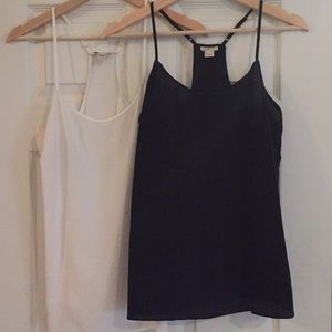 ⚪️⚫️ Two-for-One J.Crew Camis ⚫️⚪️